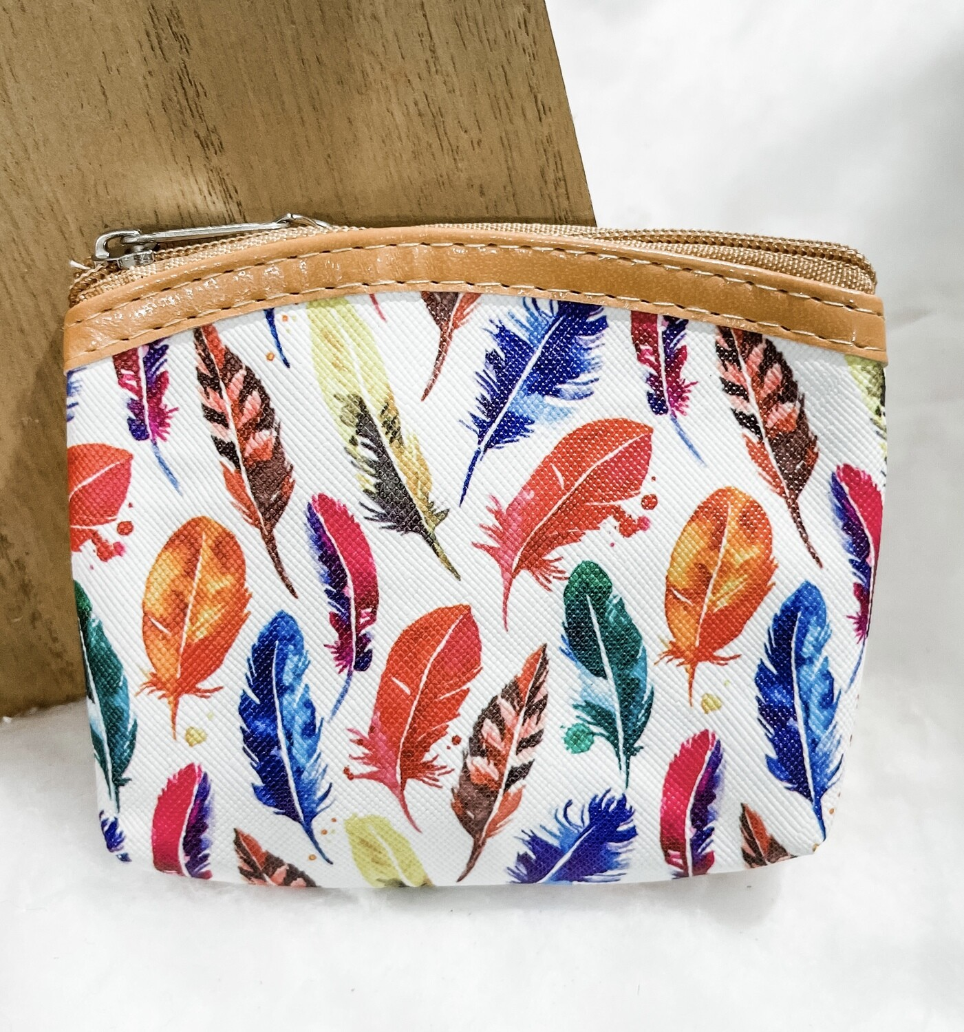 Red & Yellow Feather Coin Purse