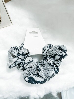Gray Snakeskin Scrunchie