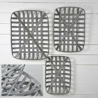 Lg Rectangle Gray Tobacco Basket