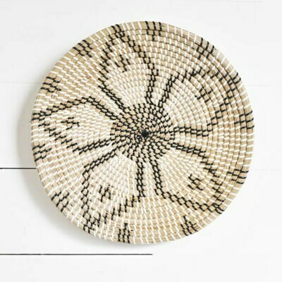 Floral Seagrass Weave Wall Art