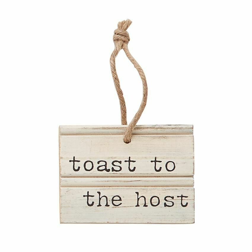 Toast to the Host Wooden Hanger