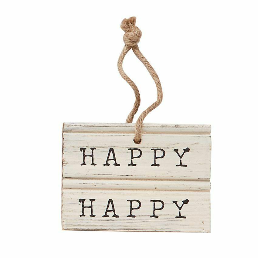 Happy Happy Wooden Hanger