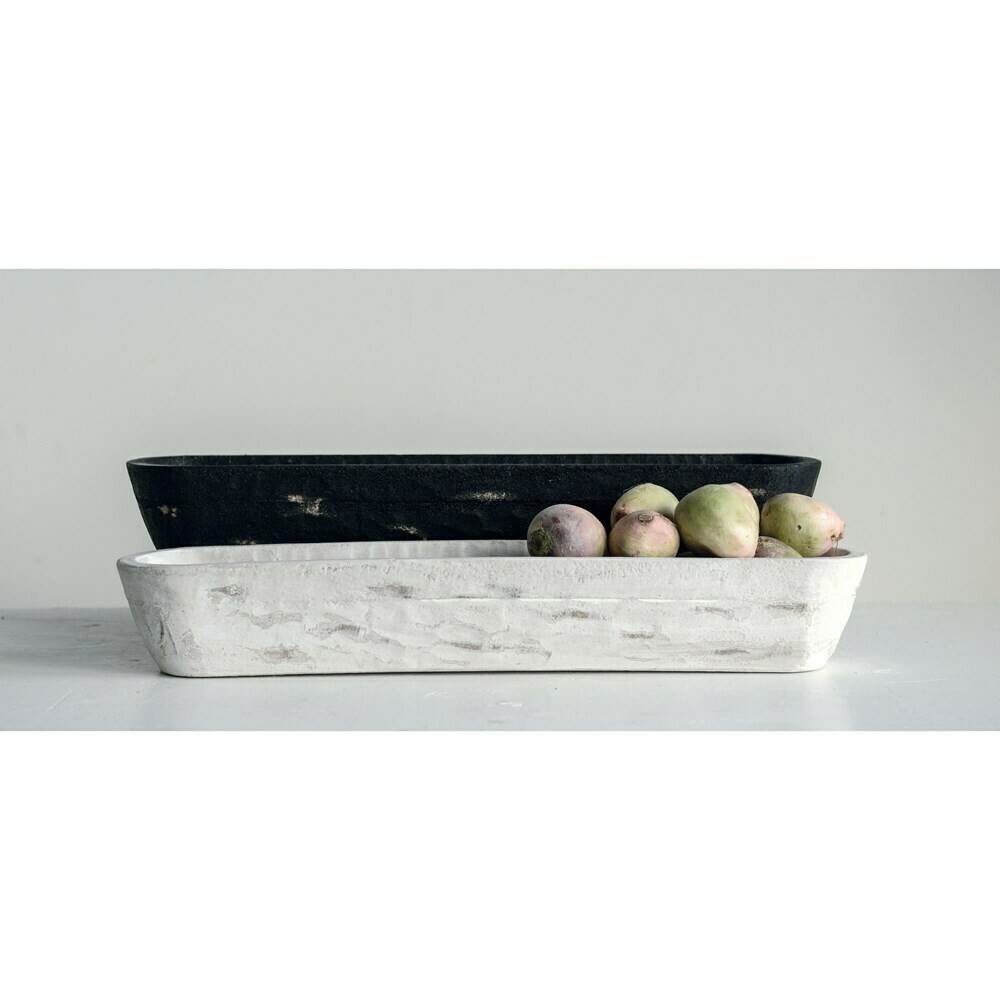 White Decorative Wooden Trug