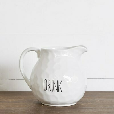 Long Letter Drink Pitcher