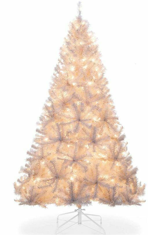 6' White Prelit Tree