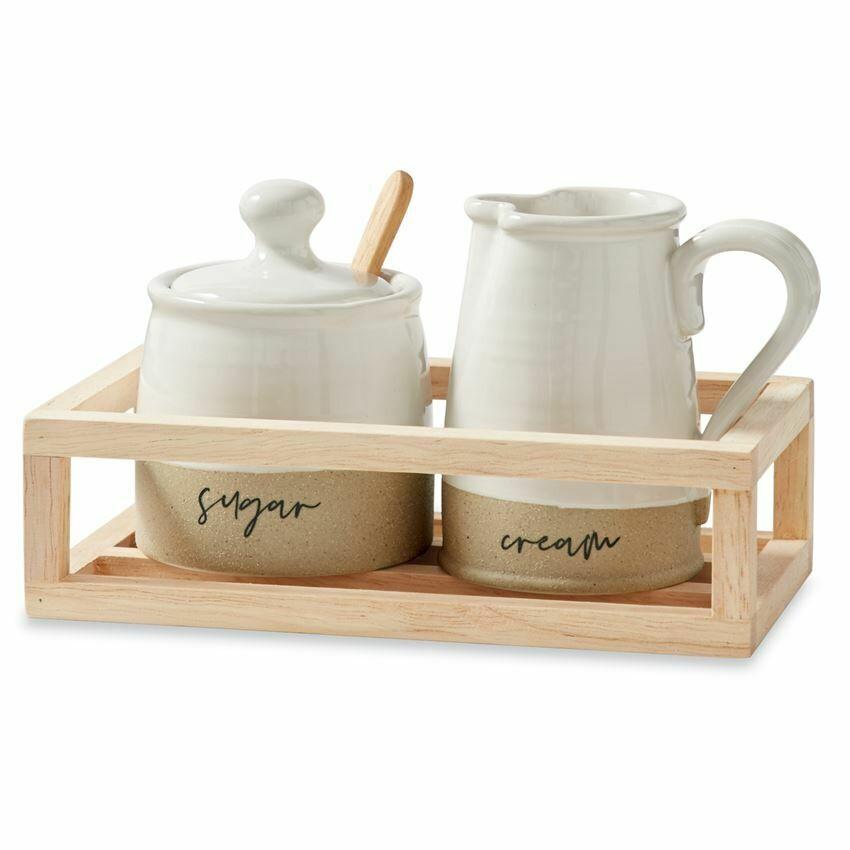 Stoneware Cream & Sugar Set