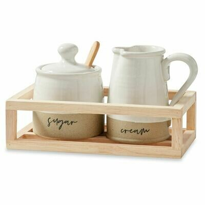 Stoneware Cream & Sugar Set