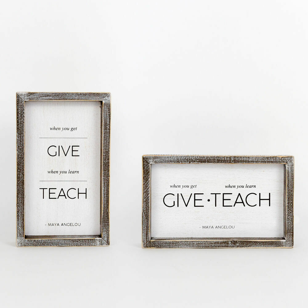 Give Teach Reversible Sign