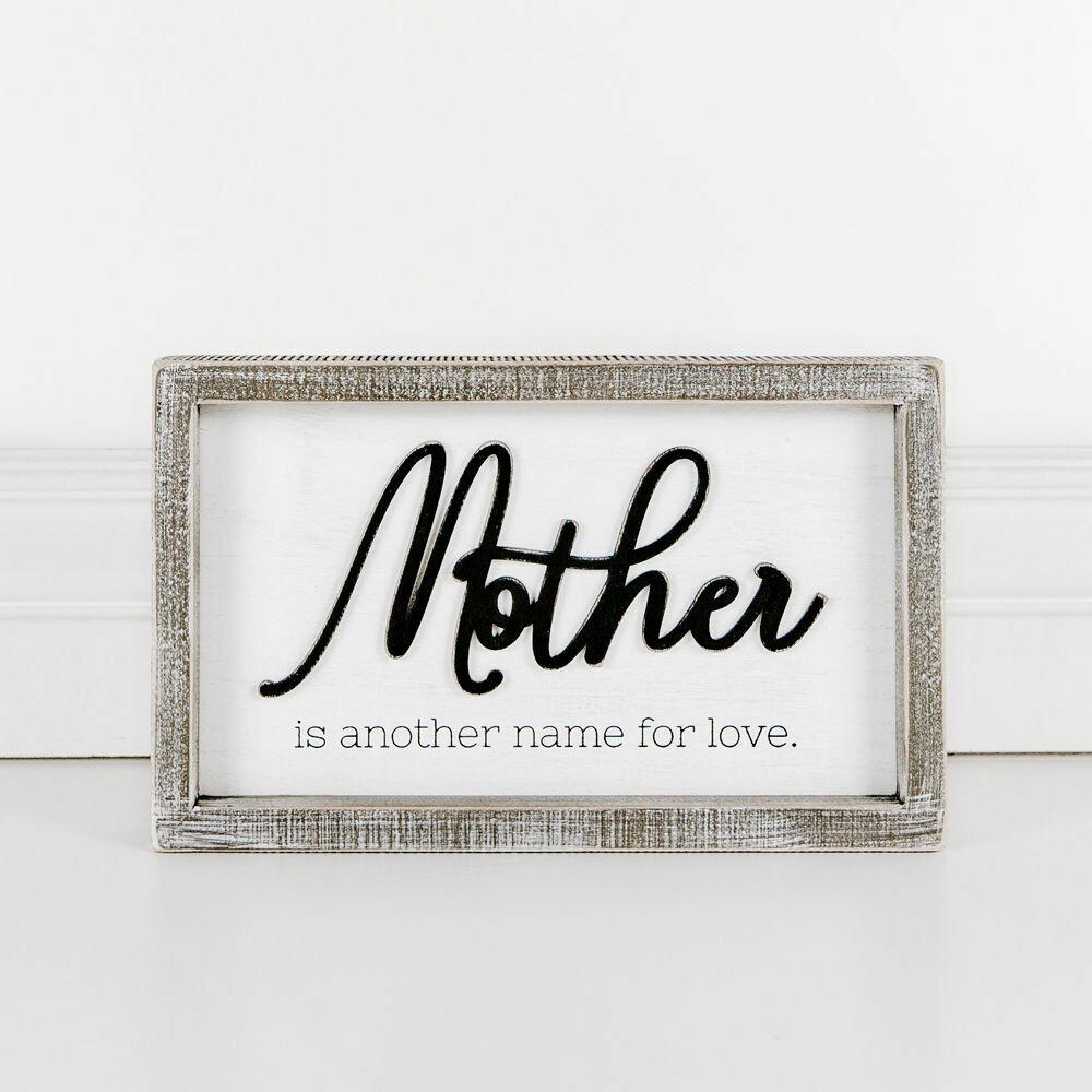 Mother Love Wood Framed Sign