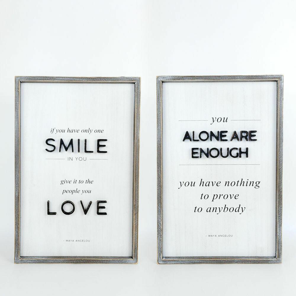 Smile Loved Enough Reversible Sign