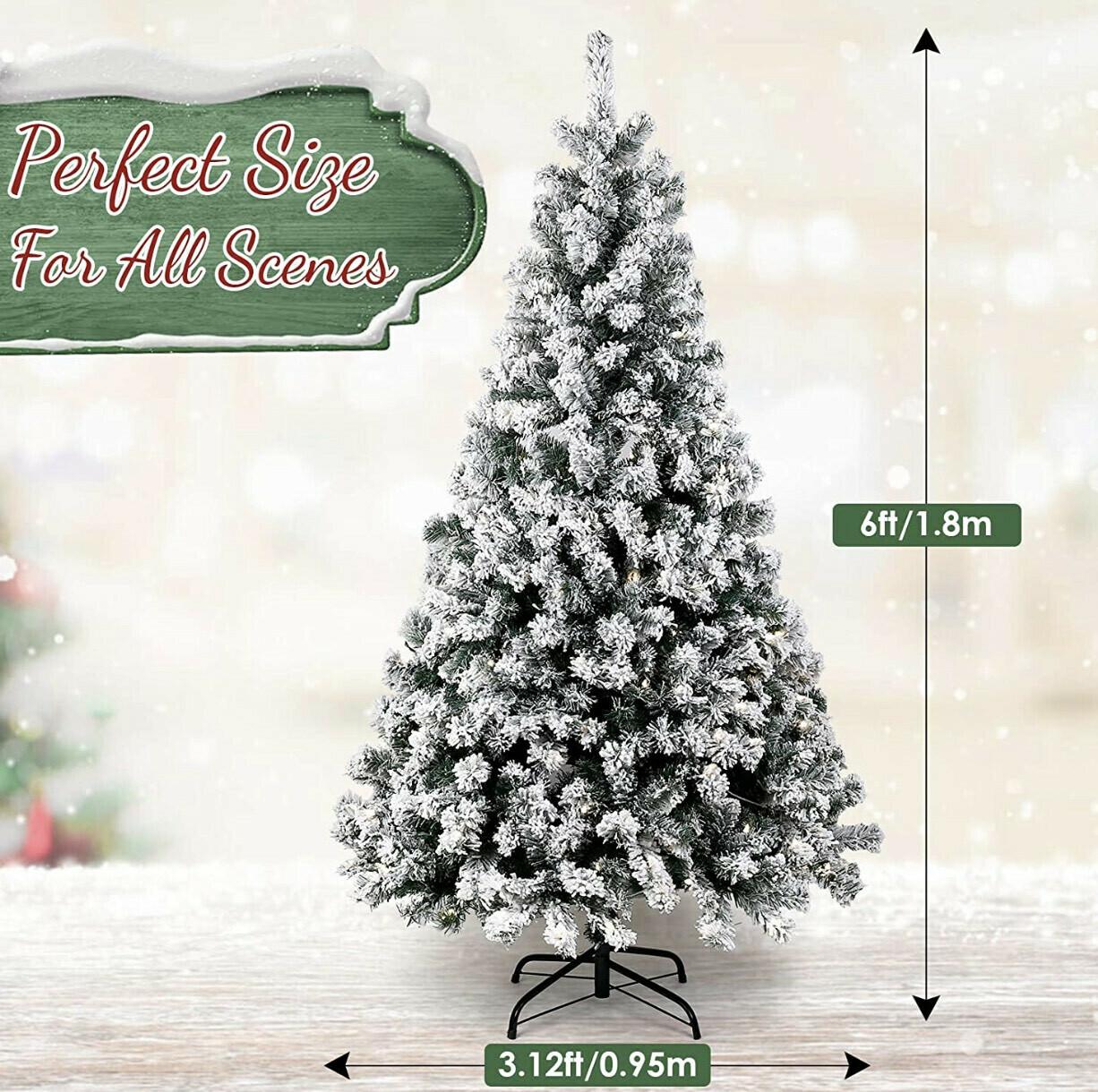6' Flocked Christmas Tree