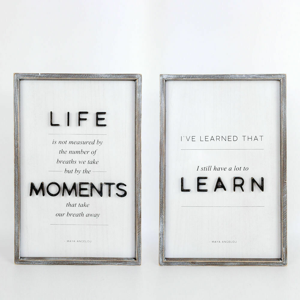 Life Moments Learn Reversible Sign