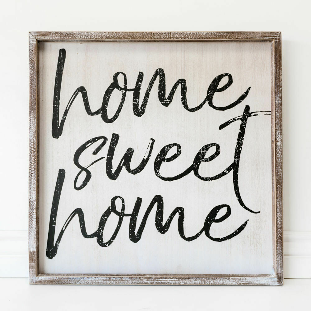 Square Home Sweet Home Sign