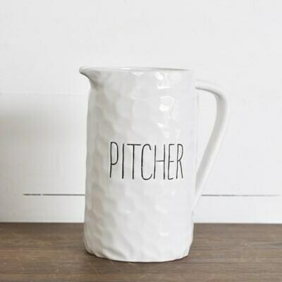 Long Letter Pitcher