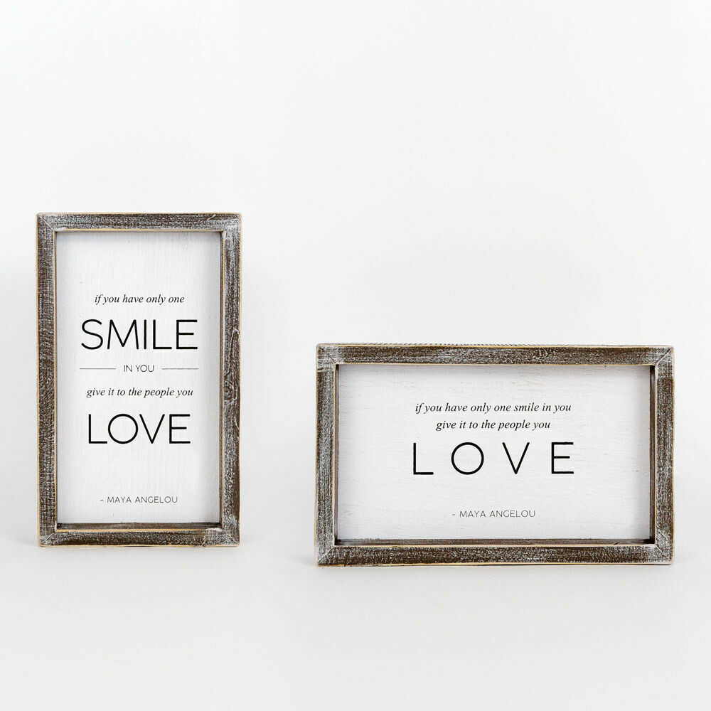 Smile Love Reversible Sign