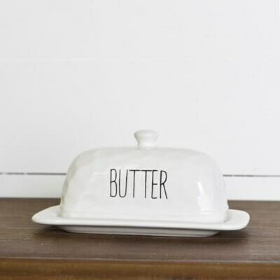 Long Letter Butter Dish