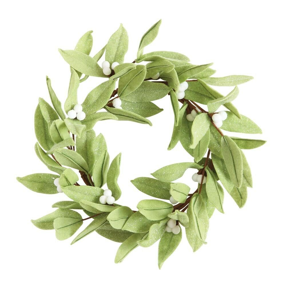 White Berry Felt Wreath