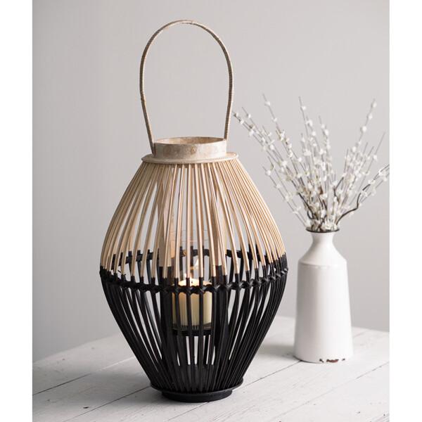 Two-Tone Wood Lantern