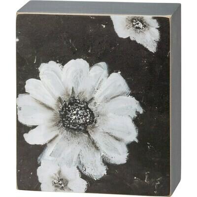 B&W Floral Box Sign