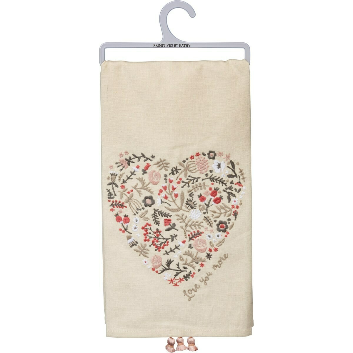 Love You More Heart Towel