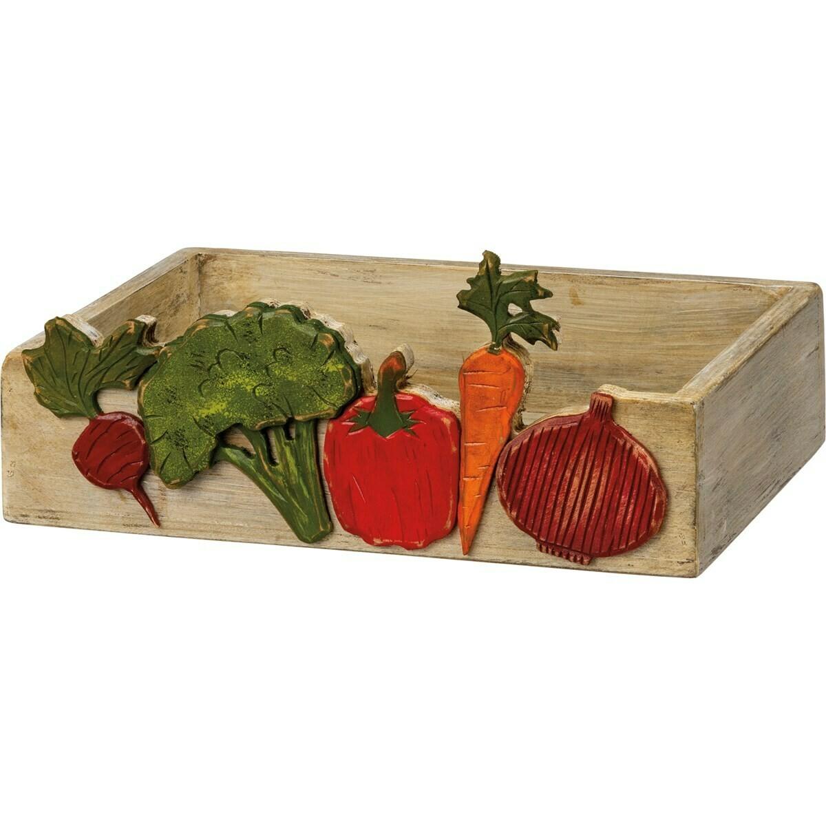 Wooden Vegetable Bin