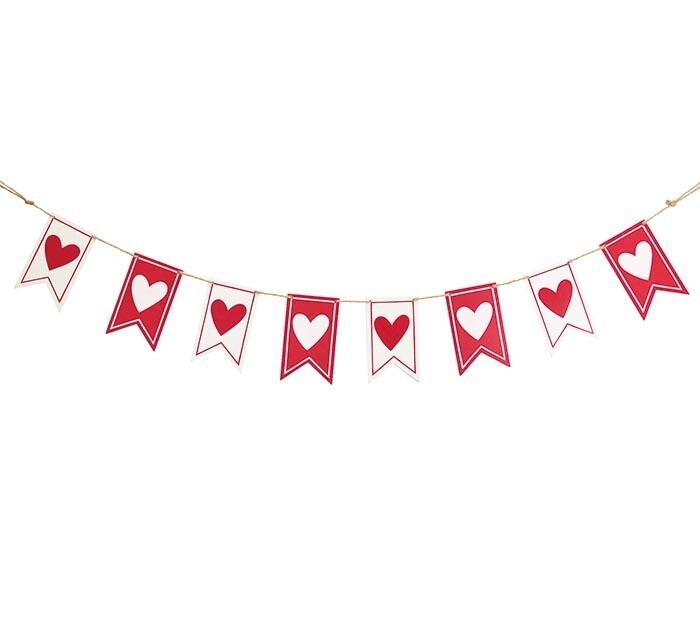 Wooden Heart Banner