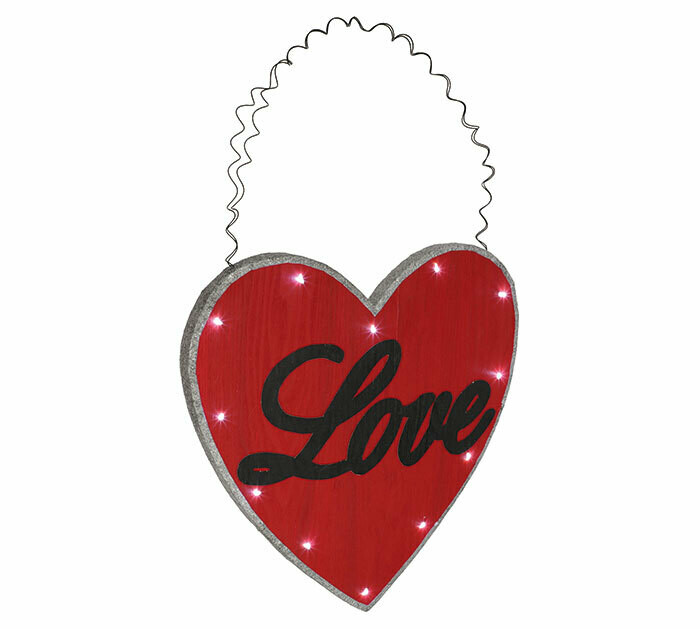Hanging Lighted Love Heart
