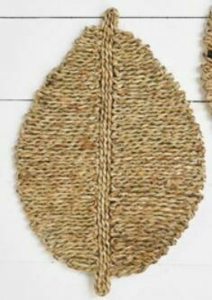 Natural Seagrass Leaf Wall Decor
