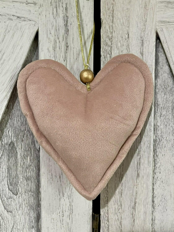 Sm Matte Pink Soft Heart w Beads