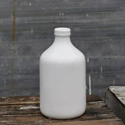 """10"""" Crackled Bottle Vase"""