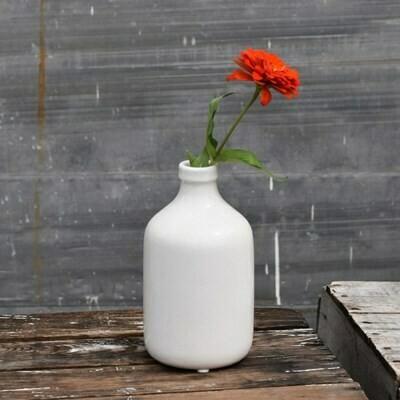 """8"""" Crackled Bottle Vase"""
