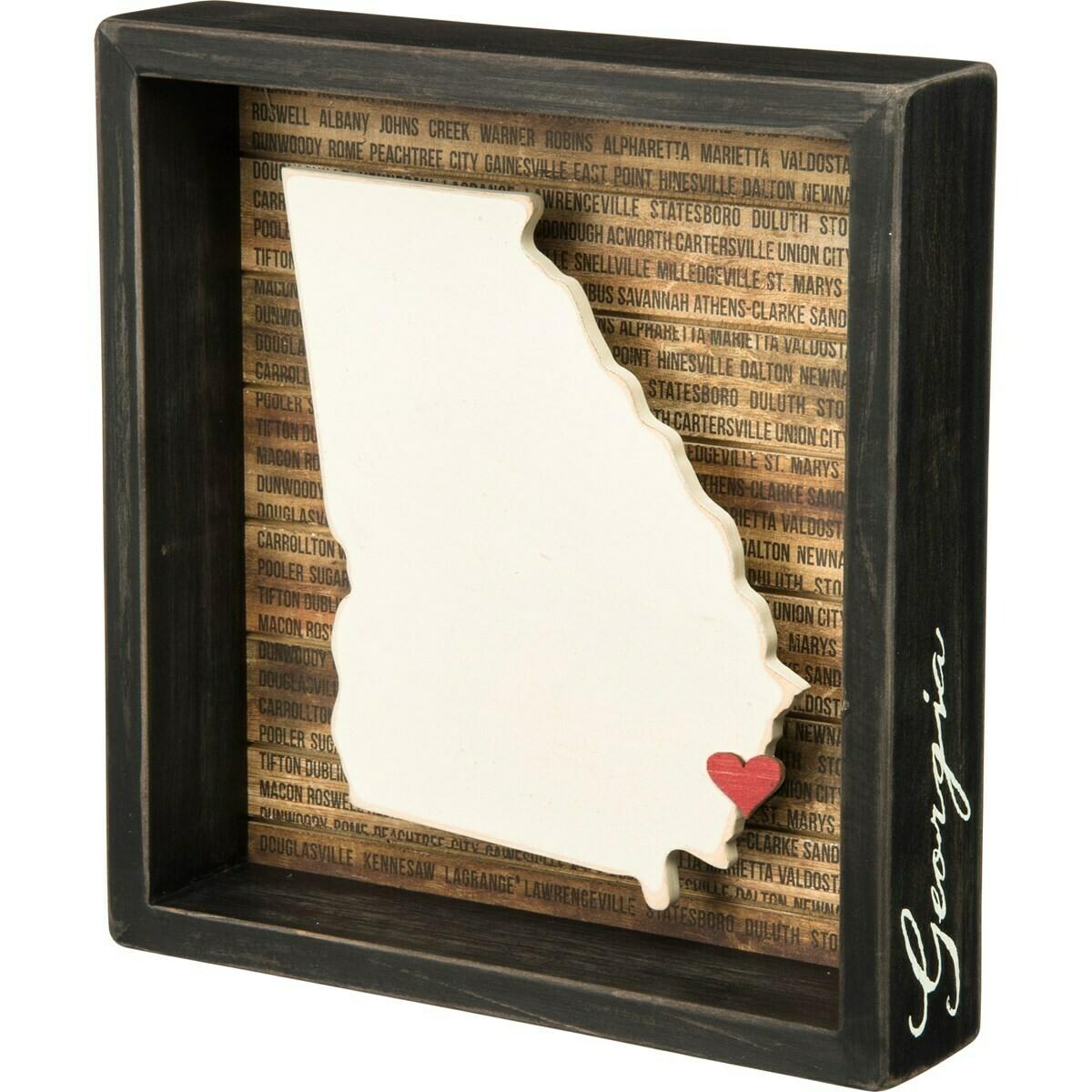 3D Georgia Box Sign