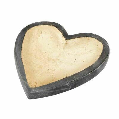 Gray Marble Heart Tray