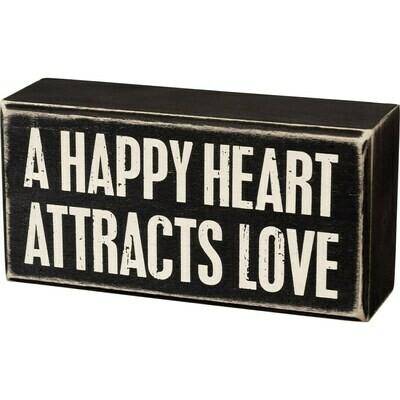 Happy Heart Box Sign