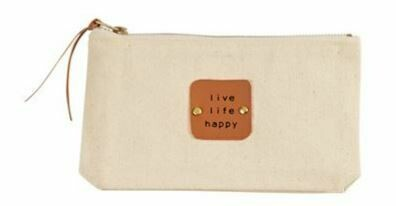 Happy Canvas Pouch