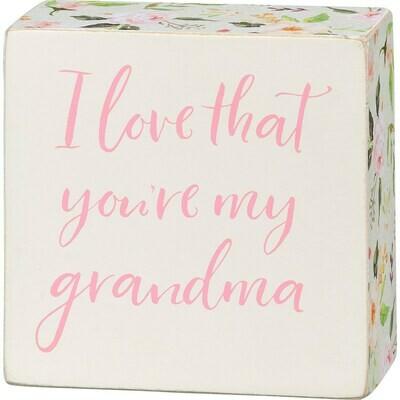 My Grandma Box Sign