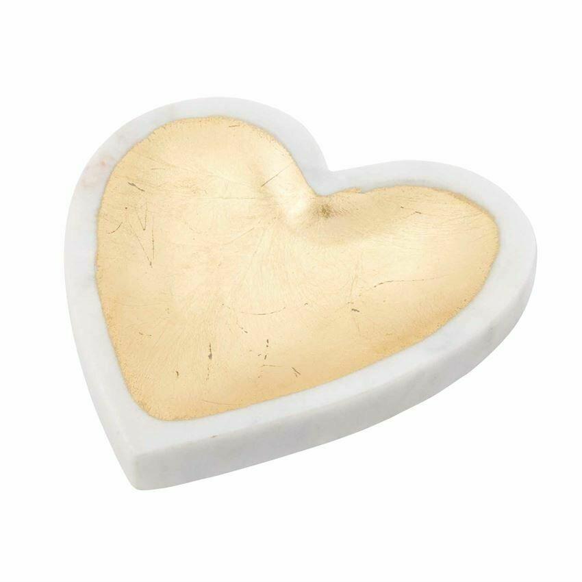 White Marble Heart Tray