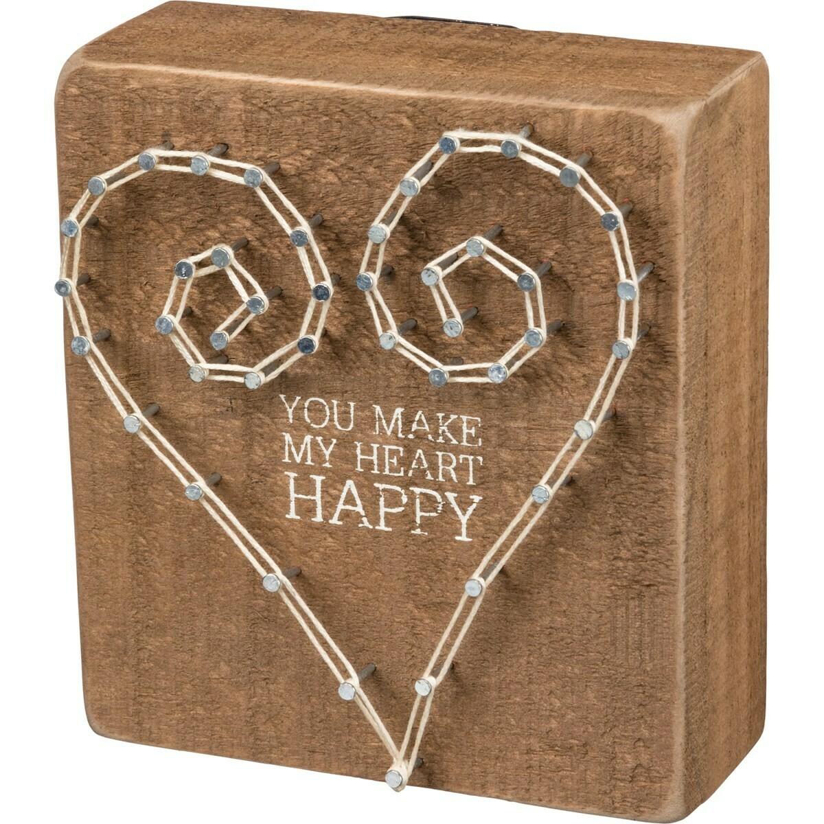 Heart Happy String Art