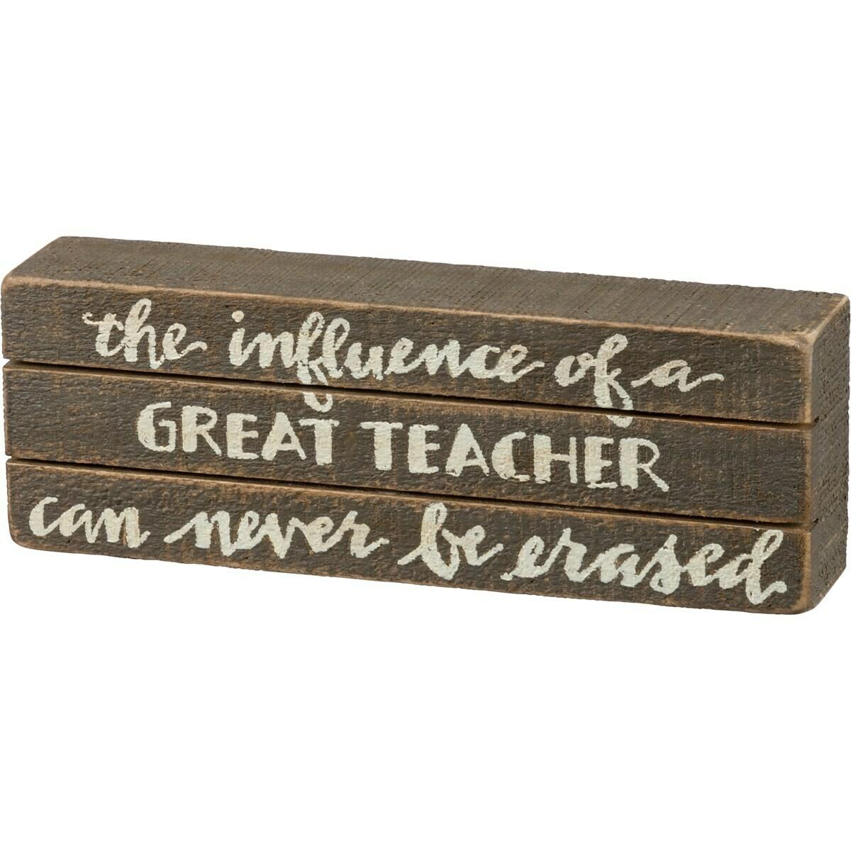 Great Teacher Skat Box Sign