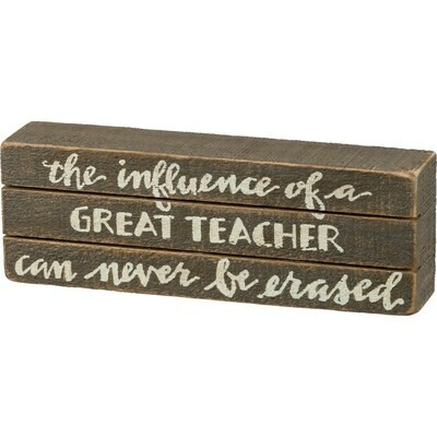 Great Teacher Skat Box Sign