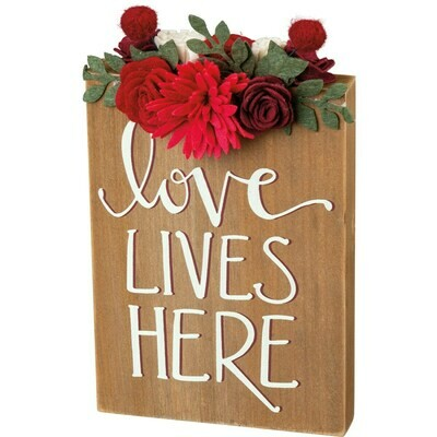 Love Lives Here Block Sign