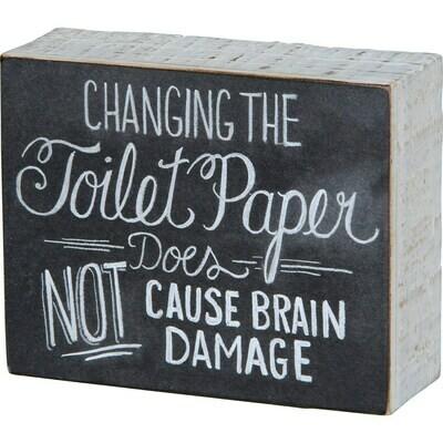 Toilet Paper Chalkboard Sign