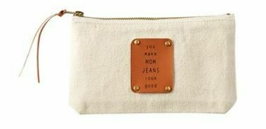 Mom Jeans Canvas Pouch