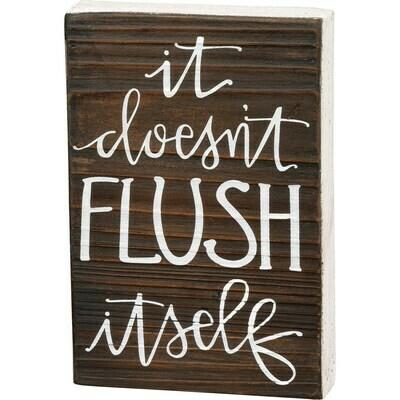 Flush Itself Box Sign