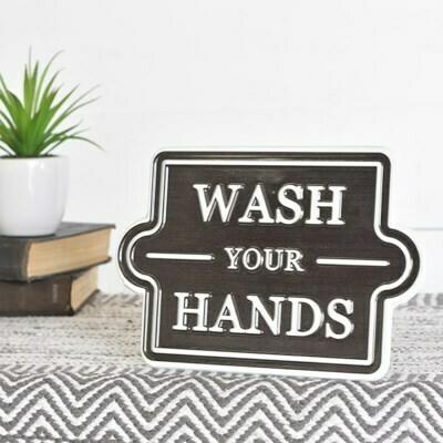Wash Your Hands Metal Sign