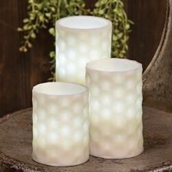 "6"" Geometric Pillar Candle"