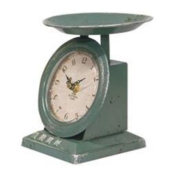 Distressed Blue Scale Clock