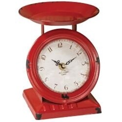 Distressed Red Scale Clock