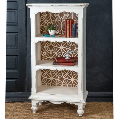 Carved Back Bookshelf