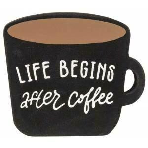 Life Begins Coffee Cup Block
